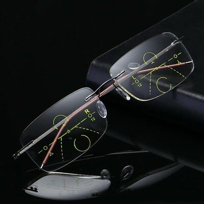 Elders Reading Glasses Progressive Multifocal Lens Presbyopia Anti Fatigue