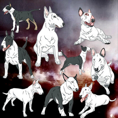 Realistic Bull Terrier 10 Machine Embroidery Designs 4 Sizes Included