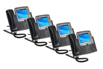 Cisco 7975G Eight Line Color Display Unified IP Phone, Four Pack, Lifetime Wty
