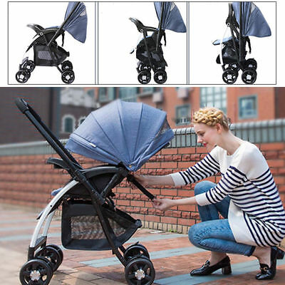 Baby Infant Stroller High-View Carriage Travel Car Foldable Pram Pushchair -1