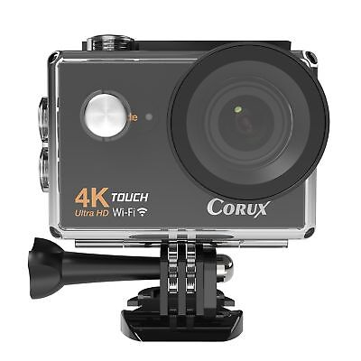 Corux 4K Ultra HD Touchscreen Sports Action Camera Wi-Fi Video Camcorder 16MP 17