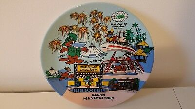 Vintage World Expo 88 Brisbane - Down Under Collector Plate