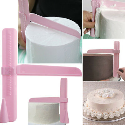 Adjustable Height Cake Smoother Polisher Tools Cutter Fondant Sugarcraft Icing @