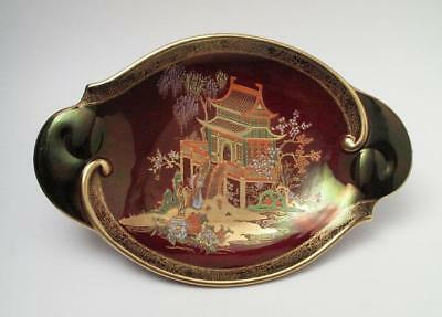 Vintage Carlton Ware Rouge Royale New Mikado Twin Handled Oval Dish Chinoiserie