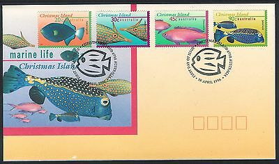 1996-1998 Christmas Island - Marine Life set of 4 Covers
