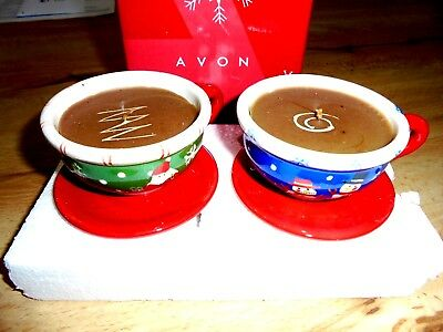 Avon Cappuccino Candle Gift Set (2) New In Box
