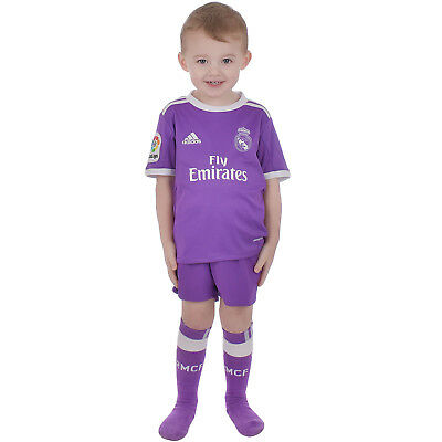 adidas Performance Real Madrid Away 16/17 Junior Boys Replica Football Mini Kit