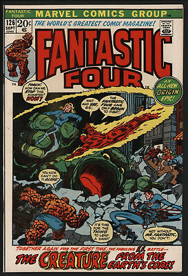 Fantastic Four #126 Sep 1972 Re-Tells Origin. Glossy Cents