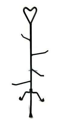 Small Primitive Wrought Iron Basket Stand
