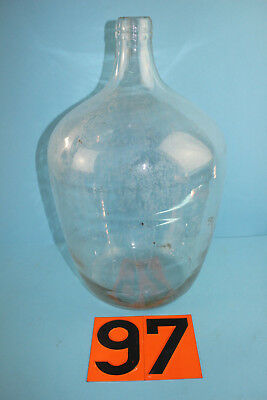 Alter  Glasballon Transparent Ca 10 Liter Nr 97