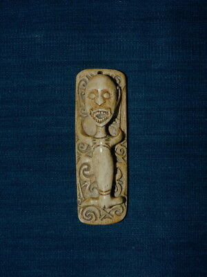Buffalo Bone Amulet From The Dayak, Borneo  Island