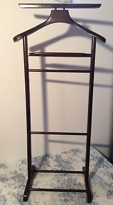 Vintage French Wooden Butlers Valet Stand (3204)