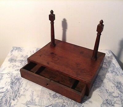 Vintage French Wooden Dressing Table Jewellery Drawer / Writing Box (3140)