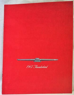 1967 Ford Thunderbird Automobile Car Advertising Sales Brochure Guide Vintage