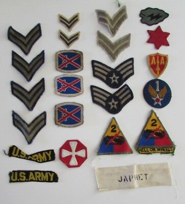 Lot WW2 US Army Military Patches Patch 2nd Armored Division 10th Mountain & More