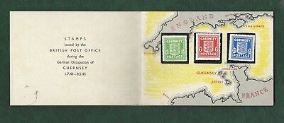 GB Guernsey Channel islands 1945 stamps under German Occupation MNH in pack