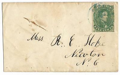 CSA Cover to Miss R. E. Hofze in Newton, NC with CS #1 Stamp