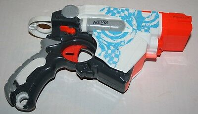 White Nerf Vortex Proton Disc Shooting Gun Hasbro 2010 Toy 1 Disc Free shipping