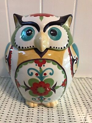 BELLA Owl Cookie Jar 10""