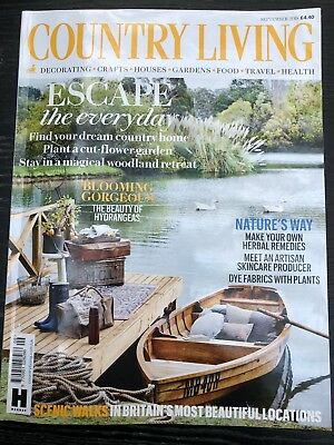Country Living house/home/lifestyle/interiors magazine, September 2018