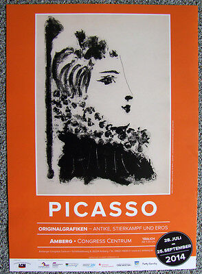 Poster Plakat - Picasso Austellung , Amberg 2014, Format DIN A3