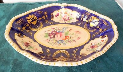 Antique  BloorDerby Porcelain  fruit plate circa 1825