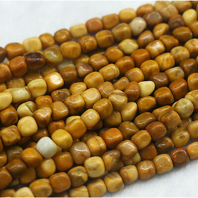Wholesale Natural Yellow Jasper Small Nugget Free Form Loose Stone Beads