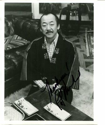 Happy Days Karate kid Pat Morita signed autograph NO RESERVE B5455