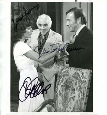 Joan Collins christopher plummer Lorne Green signed autograph NO RESERVE B5456