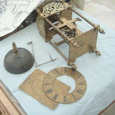 clock maker Lantern clock posted Frame lantern clock made from old parts nice