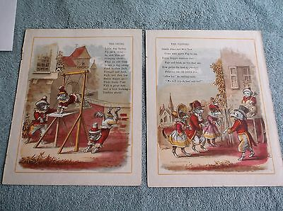 Vintage Antique Book Pages Poetry Poems About Dogs Great Illustrations 4 Poems