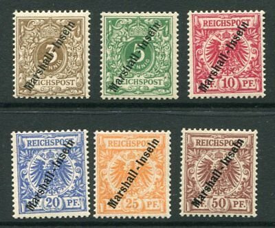MARSHALL ISLANDS GERMAN OCCUPATION  1899/1900 MH Set 6 Stamps cat EURO 100