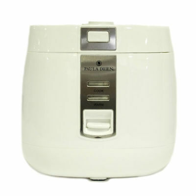 Paula Deen 540W 3.3 qt Rice Cooker with Accessories - White