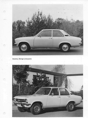 1970 Opel Ascona Two & Four Door Sedan ORIGINAL Factory Photo oac0737