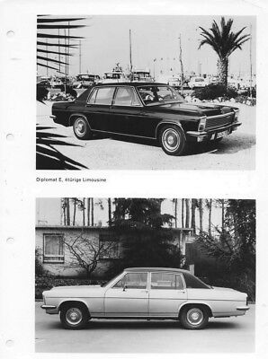 1969 Opel Diplomat E & V8 Four Door Sedan ORIGINAL Factory Photo oac0763