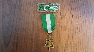 BSA, 1960's Scouter's Key Knot and Award Medal, 1/20 Gold Filled, Stange