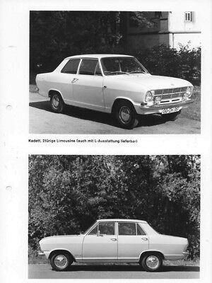 1968 Opel Kadett Two & Four Door Sedan ORIGINAL Factory Photo oac0789
