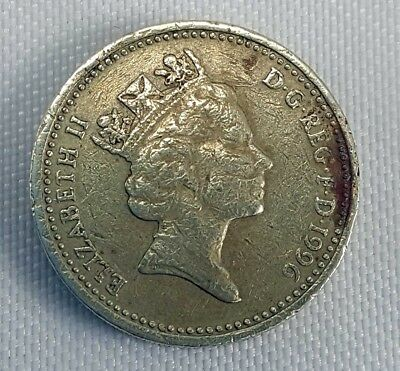 1996 UK Great Britain One Pound Coin Elizabeth II Celtic Cross G circulated