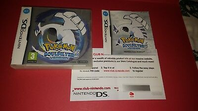 "Pokemon Soulsilver Version Case/instructions Only""""""no Game""""""nintendo Ds"