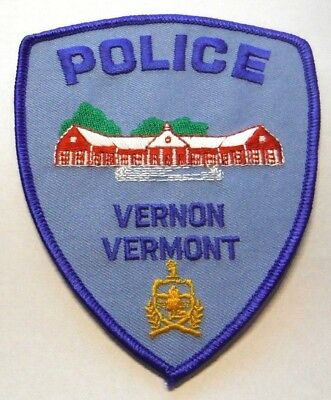 Vernon Vermont Police Patch Unused
