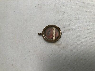 Unidentified illegible text on antique  catholic Reliquary Relic wax seal