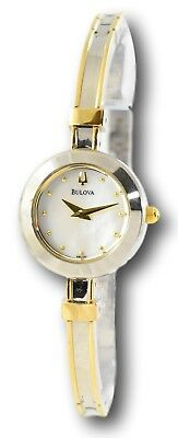 Bulova Women's 98L120 Two-Tone Gold Stainless Mother of Pearl Dial Watch