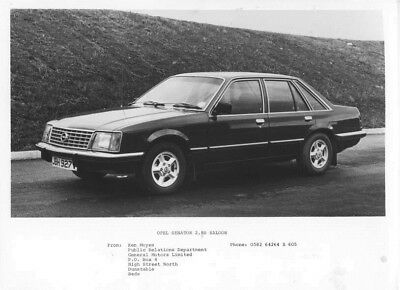 1976 Opel Senator 2.8S Saloon ORIGINAL Factory Photo oac0801
