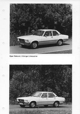 1973 Opel Rekford 2 Door & Berlina 4 Door Sedan ORIGINAL Factory Photo oac0820
