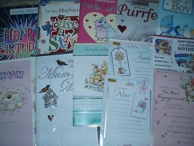 300 Assorted Birthday / Blank / Ages,Relations/ Greeting cards ~ Great mix!