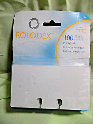 "Sanford Rolodex Rotary File Card 100 Refills, Unruled, 2-1/4""x 4"""