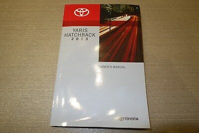 *NEW* 2013 TOYOTA YARIS HATCHBACK Owner Operator User Guide Manual Compact car K