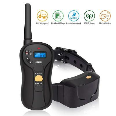 FOCUSPET Dog Training Shock Collar, Rechargeable and Rainproof Electric K-2