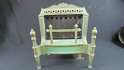 Late 1800's Antique Cast Iron Ornate Gas Fireplace (650)