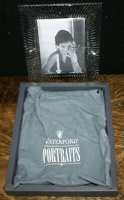 "Waterford Crystal SOMERSET Picture Photo Frame 5"" x 7"" in Box with Felt Pouch"